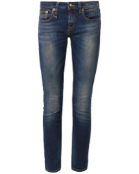 R13 Kate Cropped Midrise Skinny Jeans - Lyst