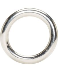 Ann Demeulemeester Silver Rounded Simple Ring - Lyst