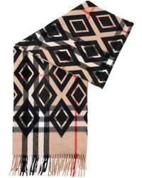 Burberry - Animal Printed Helene Cashmere Wool Pocket 40x190cm Stole - Lyst
