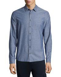 ATM   Chambray Long-sleeve Shirt   Lyst
