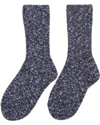 A.P.C. - Navy And White Knit Socks - Lyst