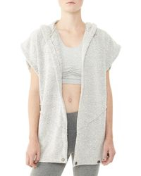 Alternative Apparel - 'rehearsal' Hooded Boucle Vest - Lyst