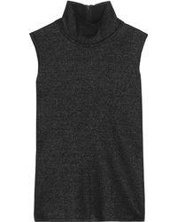 CALVIN KLEIN 205W39NYC - Metallic Wool-blend Turtleneck Top - Lyst