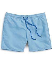 Hudson North - Solid Swim Trunks - Lyst