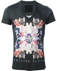 Philipp Plein Collage Print T-Shirt - Lyst