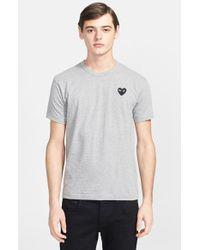 Comme des Garçons Cotton Crewneck T-Shirt - Lyst