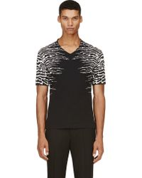 Diesel Black Gold Distorted Stripes T-Shirt - Lyst