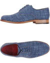Grenson   blue Lace-up Shoes   Lyst
