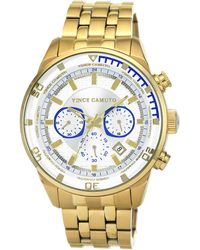 Vince Camuto - Mens Gold-Tone Bracelet Watch With White Dial - Lyst