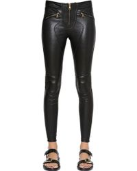 Givenchy Stretch Nappa Leather Pants - Lyst