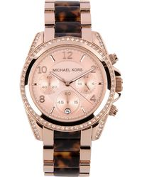 Michael Kors Pink Wrist Watch - Lyst