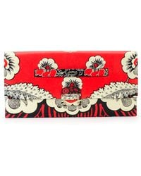 Valentino Floral-Print Covered Clutch Bag - Lyst