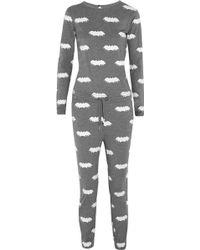 Zoe Karssen Bat-print Jersey Jumpsuit - Lyst