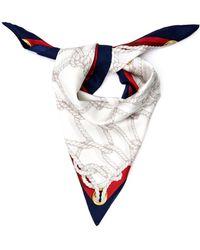 Gucci Ropes-Print Silk-Twill Scarf - Lyst