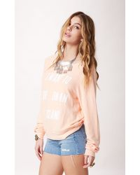 Wildfox Live On An Island Baggy Jumper - Lyst