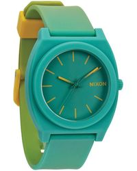 Nixon The Time Teller P Yellow Teal Fade Watch - Lyst