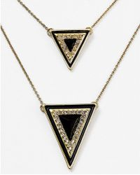 """House of Harlow 1960 - 1960 Dual Layer Necklace, 18"""" - Lyst"""