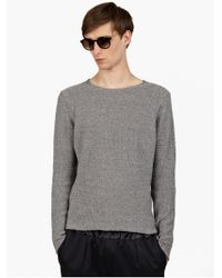 Paul Smith Mens Grey Lightweight Cotton Knit Jumper - Lyst