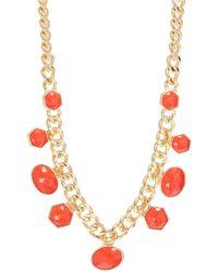 Kensie Hexagon Collar Necklace - Lyst