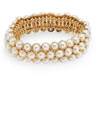 Anne Klein - Elysium Ii Faux Pearl Bracelet - Lyst