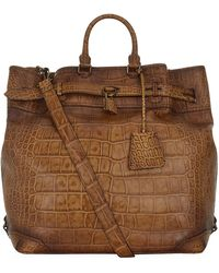Burberry Alligator Travel Bag - Lyst