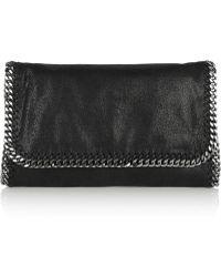 Stella McCartney The Falabella Faux Brushed-leather Shoulder Bag - Lyst