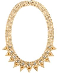 R.j. Graziano - Baguette Spiked Bib Necklace - Lyst