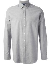 Mr Start Wessex Light Grey Shirt - Lyst