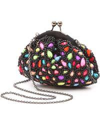 Santi Jeweled Multi Color Clutch Multi - Lyst