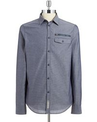 Calvin Klein Jeans Patterned Sport Shirt - Lyst