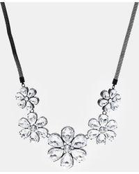 Lipsy - Stone Flower Necklace - Lyst