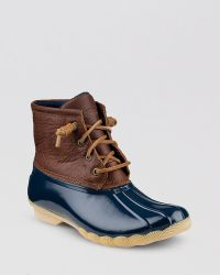 Sperry Top-sider Waterproof Cold Weather Lace Up Boots  Saltwater - Lyst