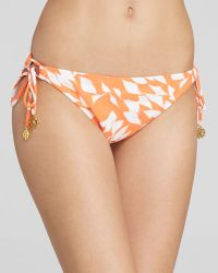 Shoshanna Pliage String Through Bikini Bottom orange - Lyst