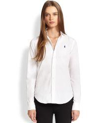Polo Ralph Lauren Slim Button-Front Shirt - Lyst