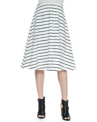 Elizabeth And James Akemi Striped A-Line Skirt - Lyst