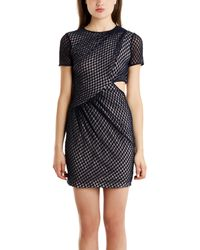 Charlotte Ronson Lace Cutout Dress - Lyst
