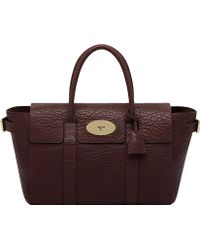Mulberry Bayswater Buckle Leather Tote Oxblood - Lyst