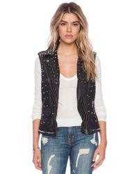 Muubaa Kate Moss Leather Studded Vest - Lyst