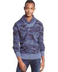 Tommy Hilfiger Big and Tall Camo Shawl-collar Sweater - Lyst