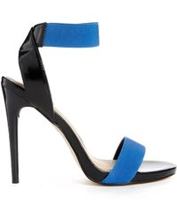 Asos Head Rush Heeled Sandals - Lyst