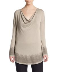 Donna Karan New York Cowlneck Cashmere/Wool/Silk Sweater - Lyst