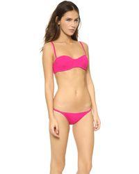 Proenza Schouler - Reef Solids Underwire Demi Bikini - Magenta - Lyst