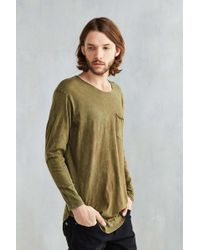Feathers - Mineralized Curved Hem Long Sleeve Tee - Lyst