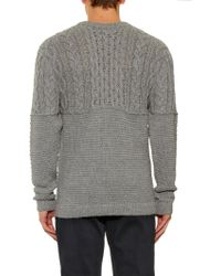 Patrik Ervell - Aran-Knit Crew-Neck Sweater - Lyst