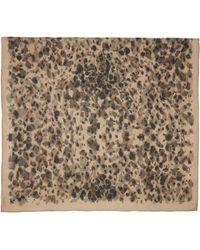 Burberry Prorsum - Camel Animal Print Silk Scarf - Lyst