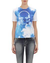 Lucien Pellat Finet - Skull & Clouds T-shirt - Lyst