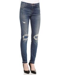 J Brand Ellis Villain Distressed Denim Jeans - Lyst