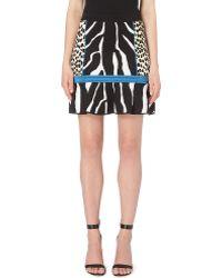 Roberto Cavalli Zebra-Print Stretch-Knit Skirt - Lyst