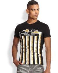 Versace Jeans Column Tee - Lyst