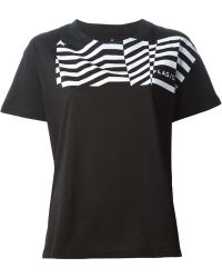 Golden Goose Deluxe Brand Black 'Flag' T-Shirt - Lyst